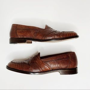 Mezlan Lizard skin brown Savona loafer size 10.5
